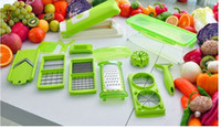 Wholesale 12 set Vegetable Fruit multi function Peeler Cutter Chopper Slicer Kitchen Cooking Tools Shredders Slicers For Salad