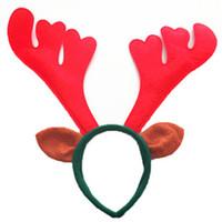 Wholesale Eyebrow Chair Scissors Scissors Manicure L Elk Antlers Headband Christmas Wreath Headdress Props Bar Supplies