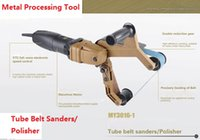 Wholesale 220V Tube belt sanders Polisher portable polishing machine for stainless steel tube polishing Metal processing tool