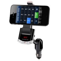 Wholesale 12V V Bluetooth Car MP3 Player Wireless FM Transmitter Phone Holder Handsfree Mp3 Player USB Charging