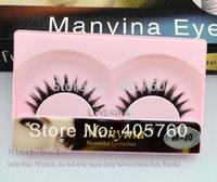 beauty salon packages - Hot Fashion Short Tapered Black False Eyelashes Fake Eye Lash Makeup Beauty DIY Salon M30 Retail Package Pair Sample