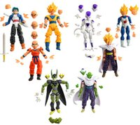 Wholesale 8pcs Dragonball Z Dragon ball can face transplant and palm DBZ Goku Piccolo Model Toys Assembly Toys Compatible Action Figure