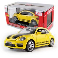 antique vw - VW GSR limited edition new jiaye beetle Pull Back Acousto optic Alloy Antique racing Cars Model children toy in gift box