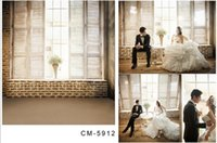 Wholesale 200 CM FT Wedding Backdrops Photography Foile De Fond Studio Photo Backgrounds Window Vinyl Backdrops Fotografia