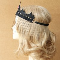 act mask - thorns queen crown veil gothic Bud silk princess party Mask Act the role ofing is tasted