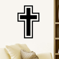 arts believers - Hot Sale Believer Home Decor Christian Cross Wall Stickers Living Room Art Vinyl Transfer Hollow Out Simple Decal