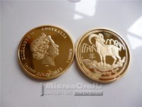 australia christmas gifts - New year of the goat gold replica sheep commemorative coin Australia crafts Christmas gifts