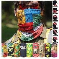 Wholesale Summer Style Bandana Sports Riding Cycling Bicycle Motorcycle Riding Variety Turban Magic Headband Veil Multi Head Scarf Scarves