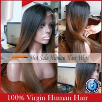 Cheap Ombre lace wigs 1b 30 Best two tone glueless lace front human hair