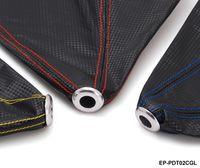al por mayor cubierta jdm-Tansky - JDM Negro PVC de fibra de carbono Mira Shift Auto Manual Shifter Boot cubierta Costura (rojo, azul, amarillo) EP-PDT02CGL