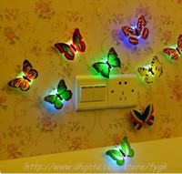 Colorido de fibra óptica de la mariposa de la mariposa Nightlight LED luz de la noche para la noche de bodas Sala Luz para habitaciones de niños