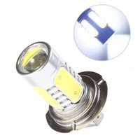 Wholesale H7 LED High Power W LED Pure White Fog Lamps Head Tail Driving Car Lights Rear Bulb Lamp V Car Light Source Parking