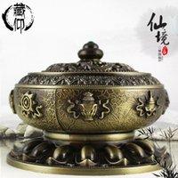 Wholesale Factory alloy disc Tibetan Babao lotus incense incense incense incense incense appliance pagoda