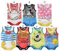 Wholesale Baby s rompers summer cotton cartoon baby one piece