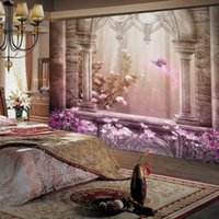 Wholesale TV backdrop wallpaper d cozy bedroom large mural fresco Continental fantasy wonderland