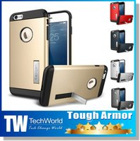 Wholesale For iPhone Plus iPhone Hybrid Shock Absorption SGP Slim Shockproof Armor Tough Armor Case Back Cover With Stand Holder Retail Package
