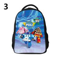 Wholesale Robocar Poli School Bags Robocar Poli backpacks Robocar Poli Schoolbags D backpack schoolbag Leisure backpack For Children H0626b