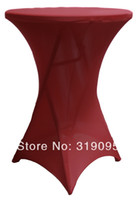 Wholesale 10pcs WHITE Lycra dry bar cover Cocktail table cover cloth for wedding event party decoration