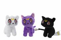 anime plush doll sailor moon - Anime Toy inch Pretty Guardian Sailor Moon plush toys dolls cat Luna Artie Smith Diana for EMS shipping