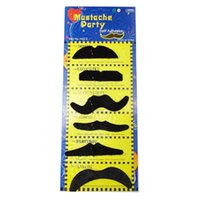 beard boards - Funny black shape of a board of six fake beard manufacturers Fool s Day Halloween supplies g