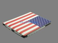 Wholesale Quality Bag Cover Case flag Picture Kickstand Folio for Ap ple for I pad Light g Magnetic Flap