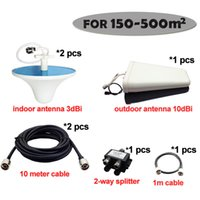 3g signal booster - Full Sets Accessories Antennas and Cable for CDMA GSM DCS G Signal Booster Repeater Amplifier Can Cover Big Area