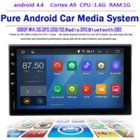 Wholesale 2 DIN Android Universal Car GPS Navigation G wifi GB DDR3 GHZ CPU A91024 Stereo101mm mm inch navi radio DIN