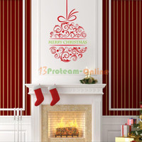 Wholesale Merry Christmas Ball Wall Stickers Decal Removable Art Vinyl Home Kids Nursery