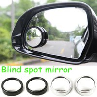 Wholesale Car Auto Side Rearview Convex Round Wide Spot Angle Blind Mirror DHL free retail box
