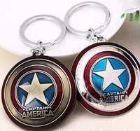 animations cars - The Avengers Captain America Shield Alloy Pendant Keychains Key Ring Keychain Favors film animation cartoon Fashion Accessories xmas gift
