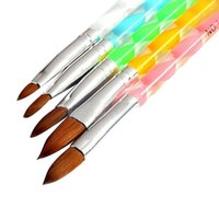 beauty salon decoration - Fashion D Acrylic Design Nail Art Salon Painting Drawing UV Gel DIY Brushes Pens Tool Set For Beauty Decorations