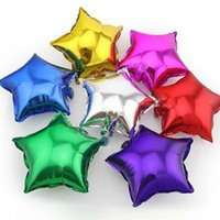 aluminum light point - 50pcs alumnum balloons Festival party supplies Factory outlets inch aluminum pointed star light board the balloon inch five pointed