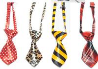 Wholesale 50 Polyester Silk Pet Dog Necktie Fashion Dog Bow Tie Adjustable Handsome Bow Tie Necktie Pet Accessories colors