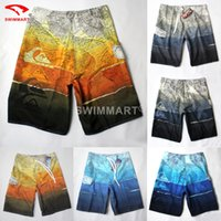 board printing - Hot Sell New Fashion Multicolor Map Print Beach Shorts High Quality Boardshort Plus Size Lace Up Shorts Swimwear Colors