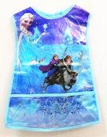 apron material - NEW Frozen ELSA ANNA Apron Frozen Children Apron Pearly Membrane Material