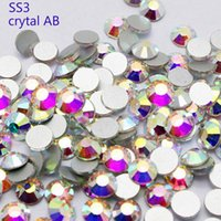 Wholesale keeping slae best discount shiny SS3 crystal AB glue on silver plated flatback crystal glue on nail art rhinestone