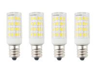 decorative fans - 4PCS Mini E12 Candelabra LED Corn Bulb W Equivalent T3 T4 E12 Light Bulb for Ceiling Fan Chandelier Indoor Decorative Lighting