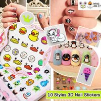 Cheap 1 x 3D Mixed Design Decal Stickers Nail Art Acrylic Manicure Tips DIY Decoration HOT