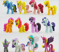 Wholesale My little pony Loose Action Figures toy CM Pony Littlest Figure Xmas Gift For Kids pieces child birthday gifts opp bag