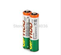 Cheap Hot Sale 2pcs lot High Power AAA 1100MAH 1.2V GP Rechargeable NiHM Battery 1100 mAh New Batteries+Free Shipping