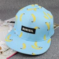 bananas blue - High quality fruit banana peach pineapple printing hip hop baseball cap hat fashion burisil letter brand for men and women