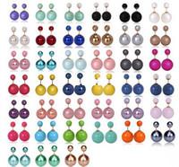 Wholesale 16mm Earrings Double Side Shining Pearl Stud Earrings Big Pearl Earrings For Women