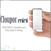 Cheap Cloupor Mini Mod 7W-30W 100% Original Mod Mechanical VV VW Mod E Cigarette Cloupor Mini 30W Box Mod fit 18650 Battery DHL Free