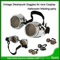 fiesta de la vendimia unisex de estilo victoriano gótico de Steampunk gafas de soldador gótico punky de los vidrios de Cosplay de Halloween