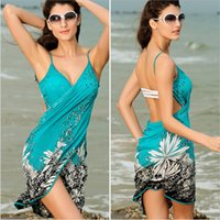 Cover-Ups Spandex Hollow Out Sexy Sling Beach Wear Dress Women 's Sarong Summer Bikini Cover-ups Wrap Pareo Skirts Towel Open-Back Swimwear Bathing Suit Cover ups Women