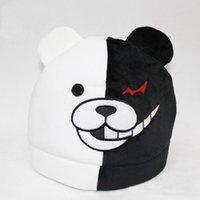 Big Kids anime animal hats - Hot Sale Dangan Ronpa Mono Kuma Approx X30cm Plush Hat Dolls Soft Stuffed Toys Cartoon Animal Winter Hat