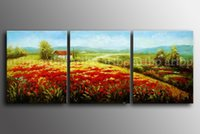 beauty fields - Huge Impressionism Art Oil Landscape Fields Floral Painting Canvas Oil Painting Beauty On Canvas Painting Glass Acrylic P