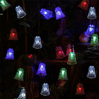 bell christmas lights - Hot sale FINENAV M LEDs Bell Solar String Light for home path Christmas Festival wedding new year waterproof Decoration Lamp SS