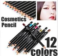 Wholesale Colors Eye Make Up Eyeliner Pencil Waterproof Eyebrow Beauty Pen Eye Liner Lip sticks Cosmetics Eyes Makeup