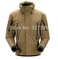 alpha khaki - Fall Leaf Alpha Waterproof Shell Military Outdoor Jackets Mens Army Combat Tactical Jacket Sport Hiking Hunting Outdoors Windbreaker